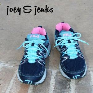 Fila Blue & Pink Walking Running Tennis Shoes 11